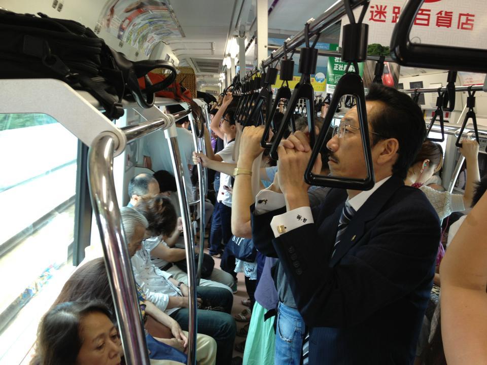 Tokyo train ride