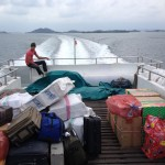 Hour-long ferry ride from Batam to Tanjung Balai Karimun, Indonesia (2014)