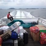 Hour-long ferry ride from Batam to Tanjung Balai Karimun, Indonesia (2014)